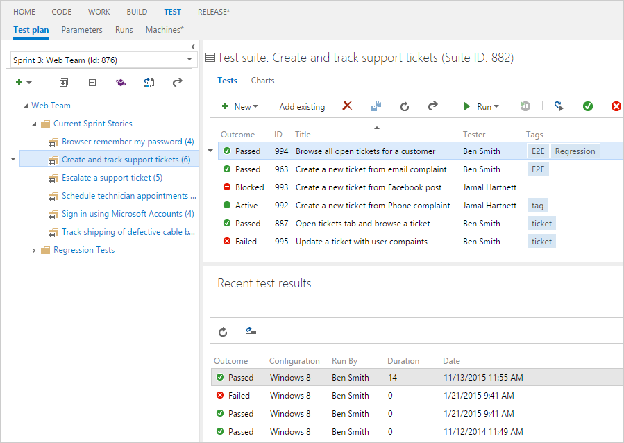 Test Manager for TFS 2017 and TFS 2018 - Visual Studio